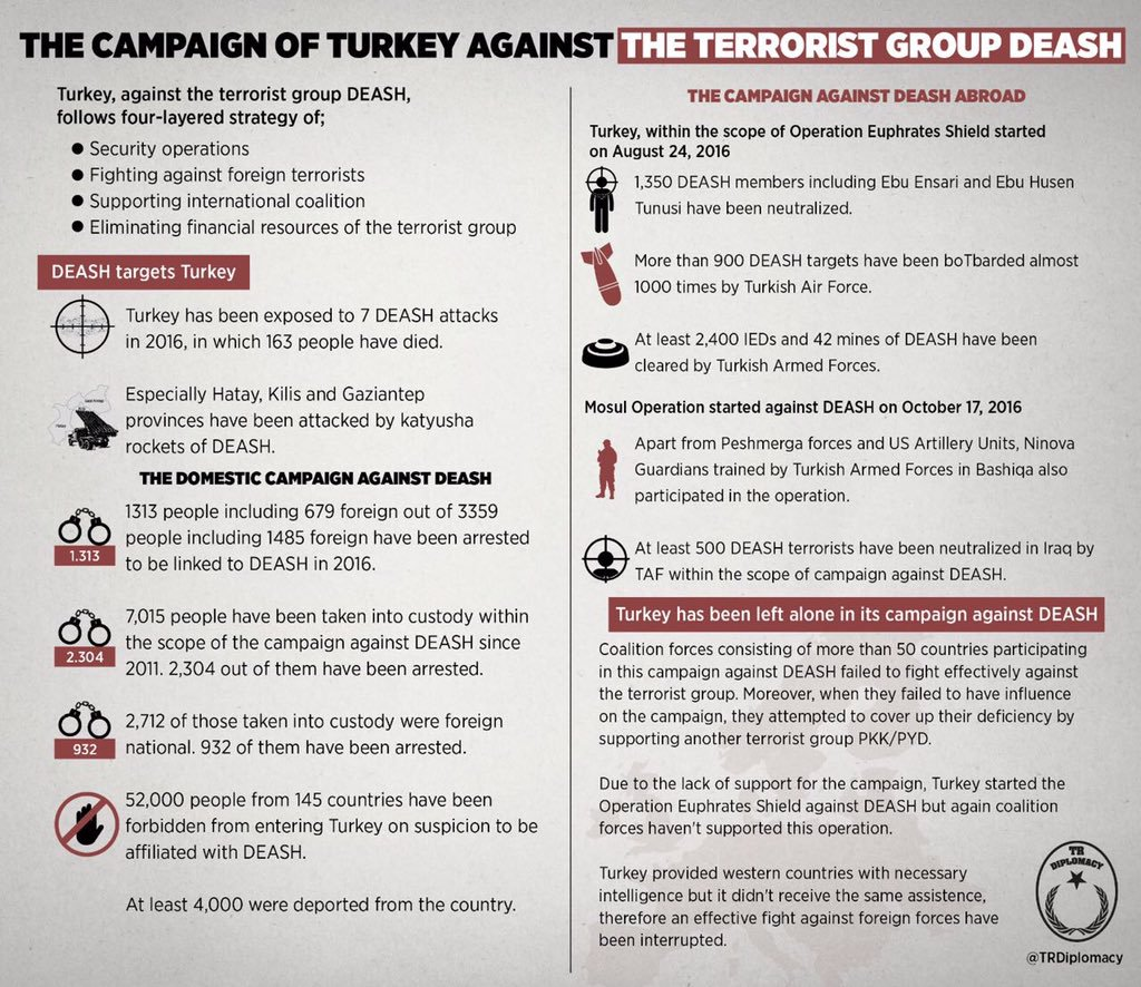 What has Turkey done so far in the campaign against DEASH?