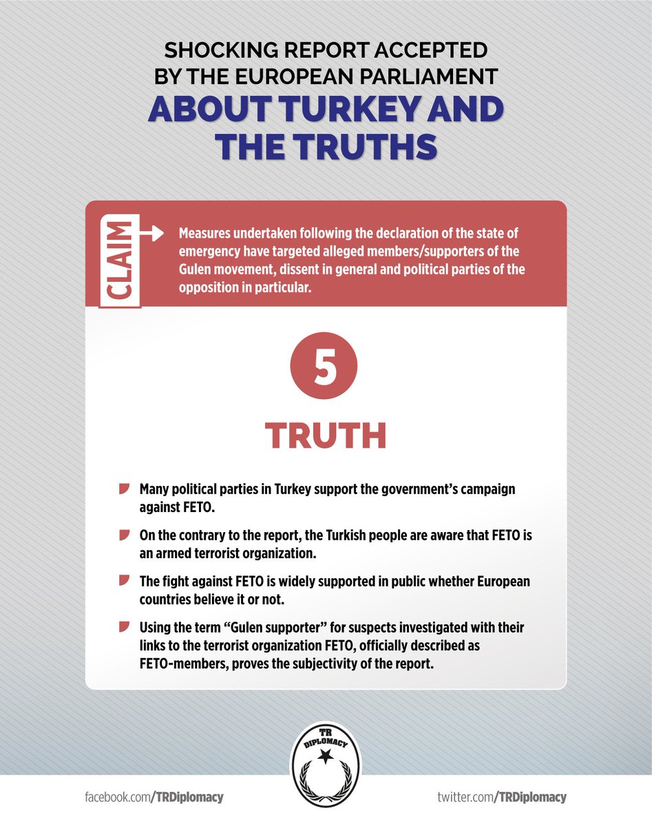 Shocking report accepted by the European Parliament about Turkey and the truths