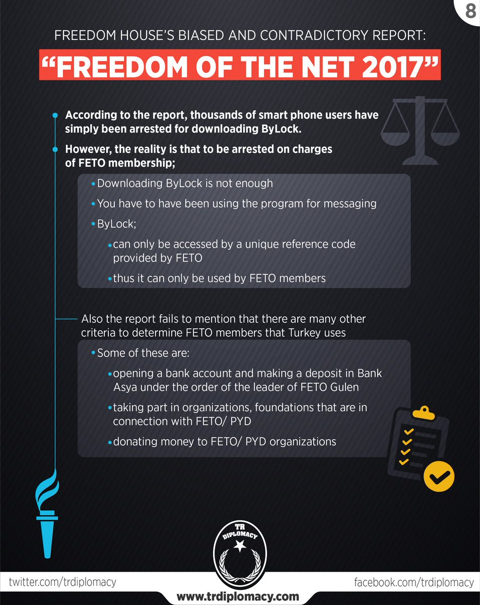"We analysed Turkey section in the ""Freedom of the Net 2017"" Report of  Freedom House"