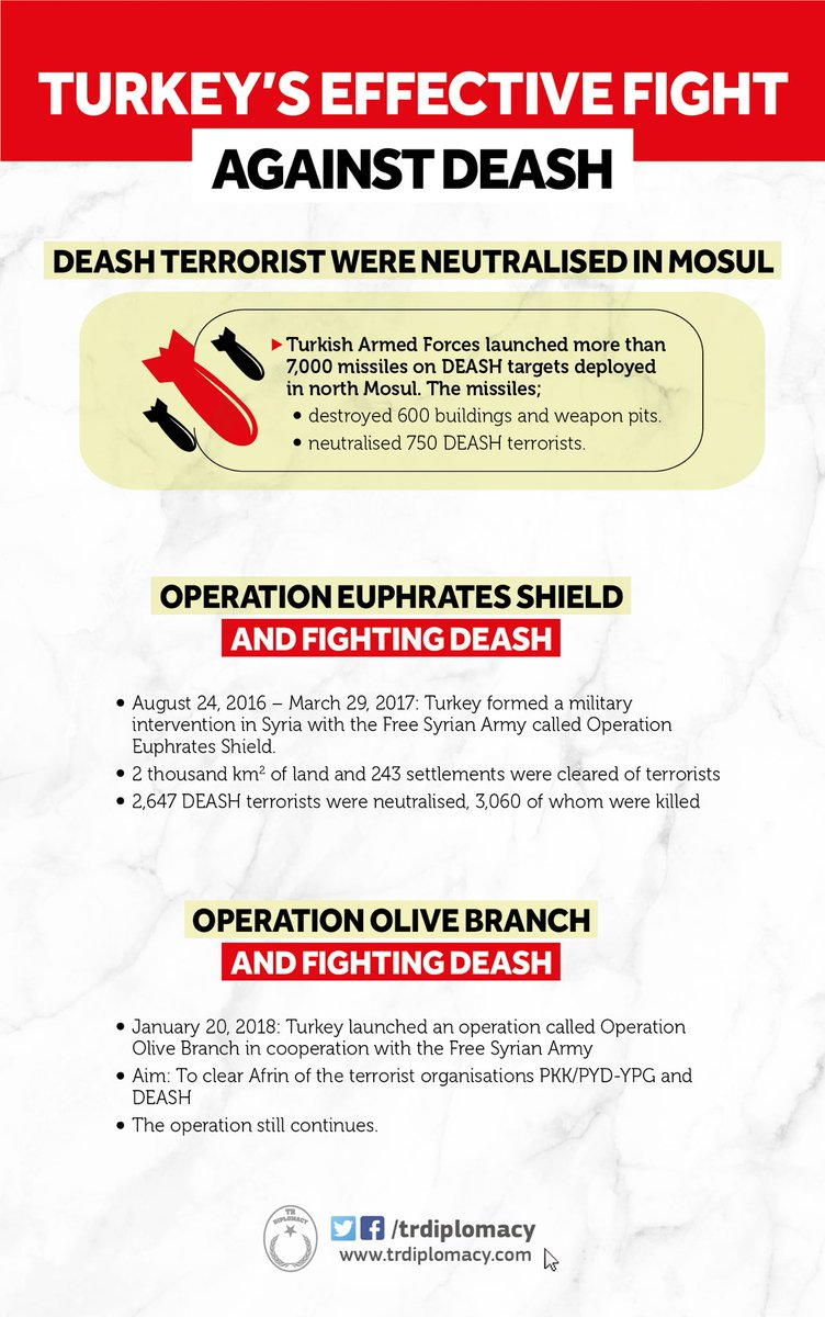 Turkey's effective fight against the terrorist organisation DEASH